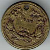 United States, Civil War Patriotic Token July 1864, VF (Holed), T1394